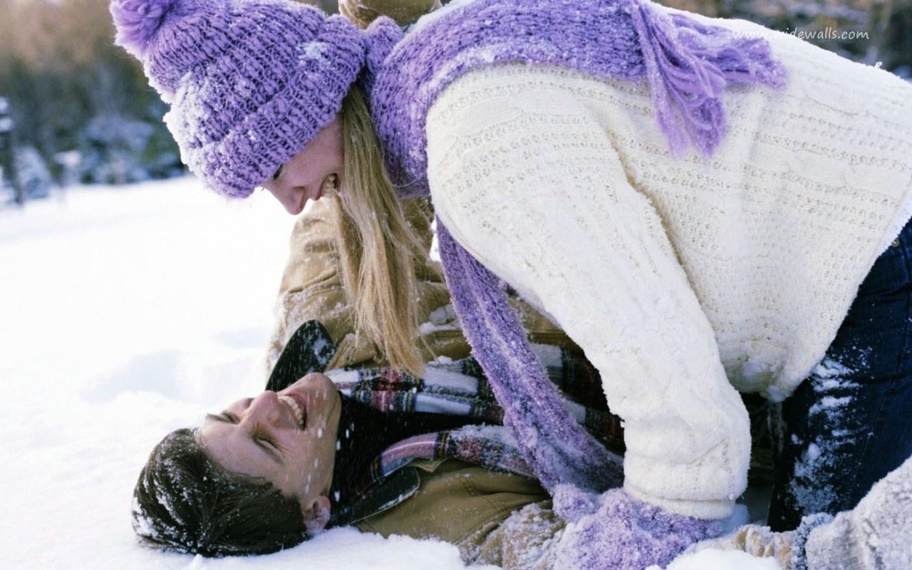 пара, любовь, красиво, зима