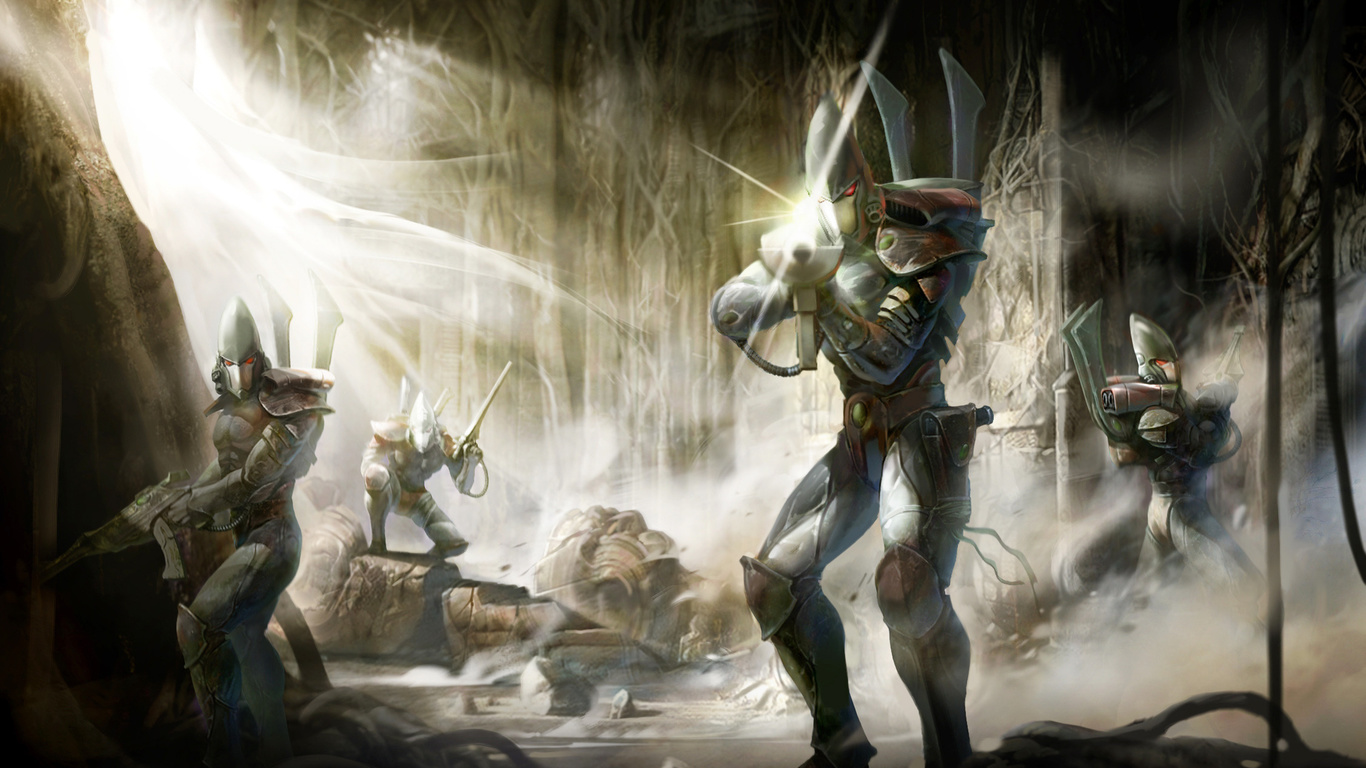 guards, concept, poster, Warhammer, wall, эльдары, капитан, eldar, стражи