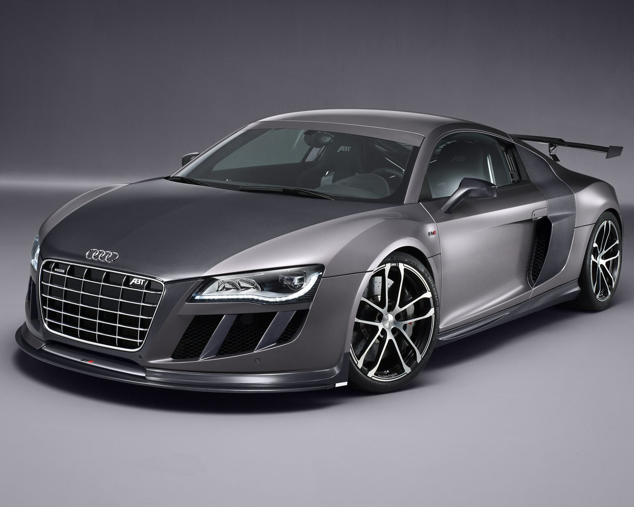 Audi, r8, abt gt r, серый