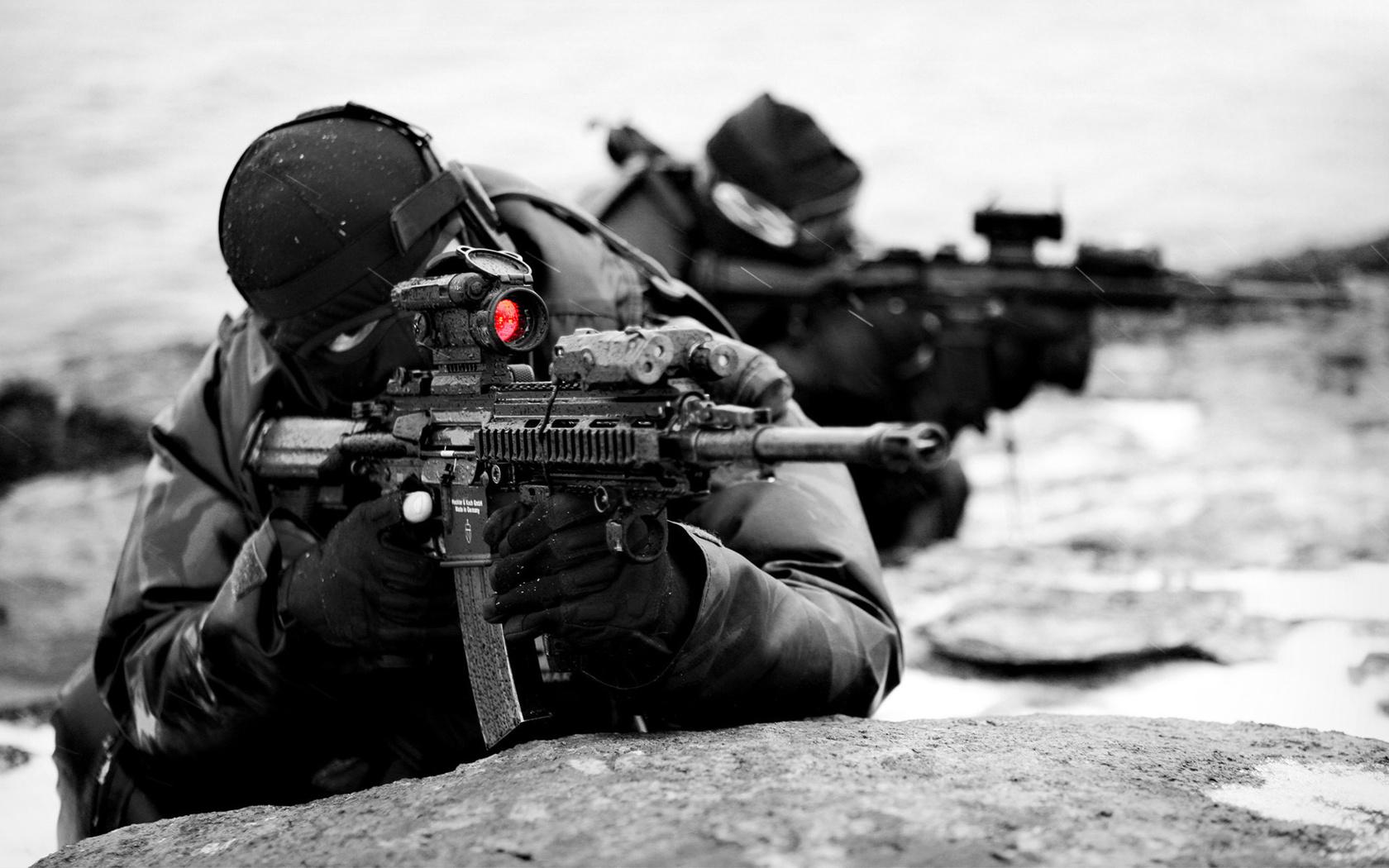 Солдаты, военные, спецназ, оружие