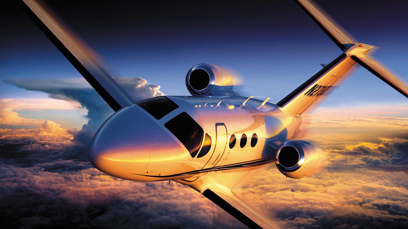 самолёт, полёт, Cessna citation 4, высота, небо