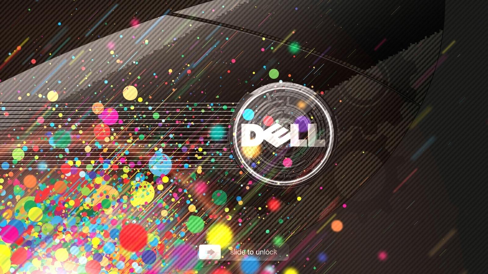 dell, цвета, круги, линии, шестерёнки, slide