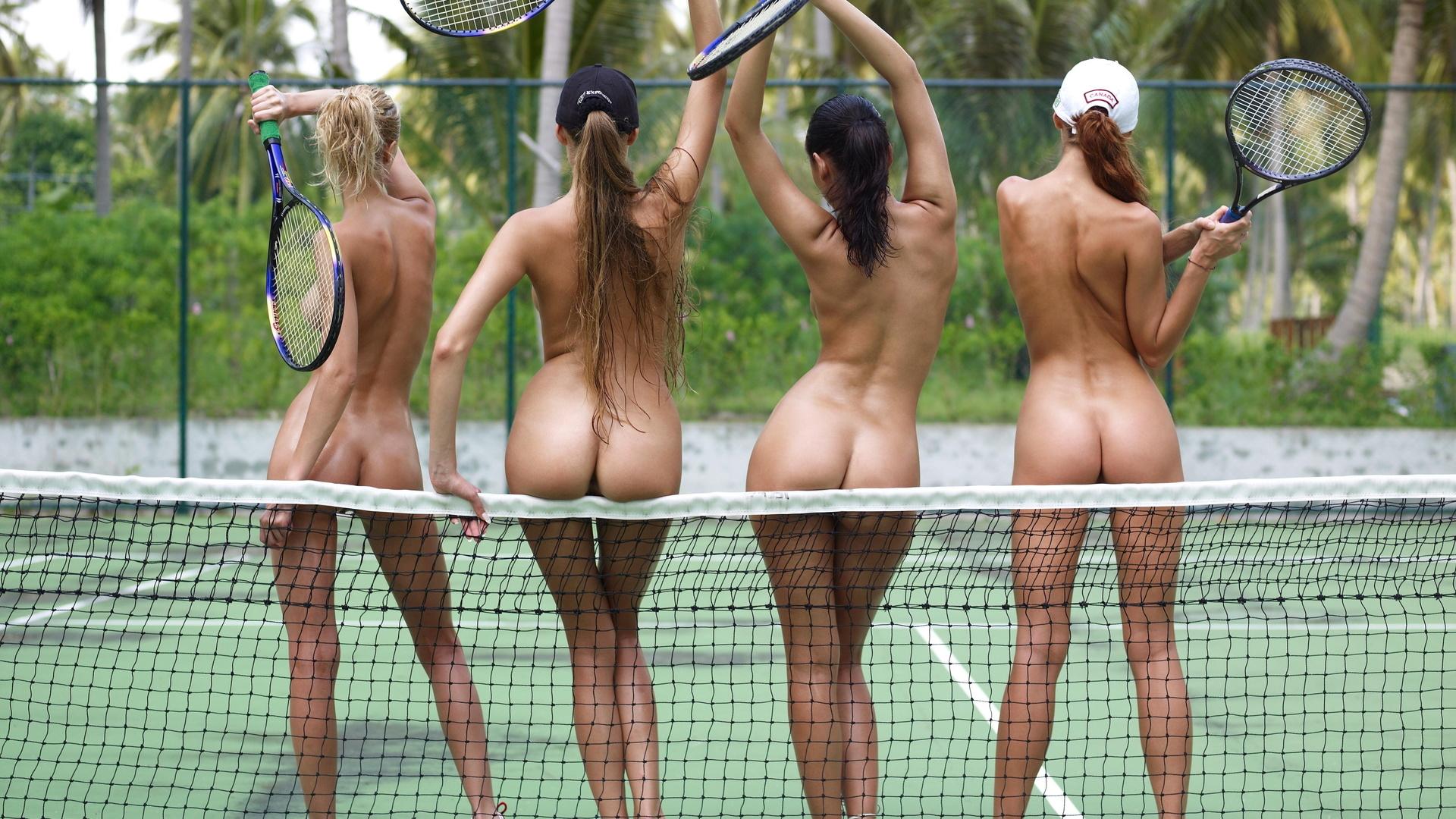 голый теннис видео