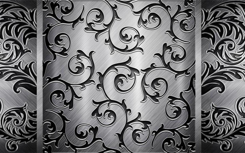 Винтажная текстура, сталь, черный, серый, узор