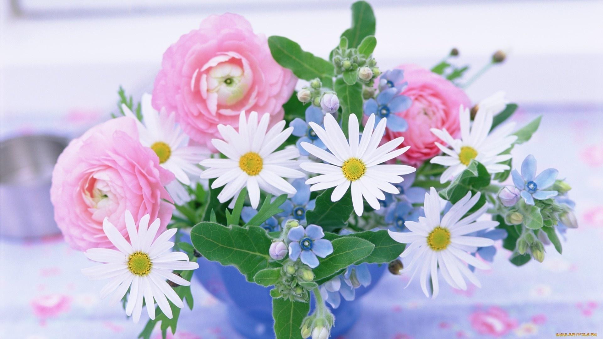 Спасибо, открытка с днем рождения летние цветы