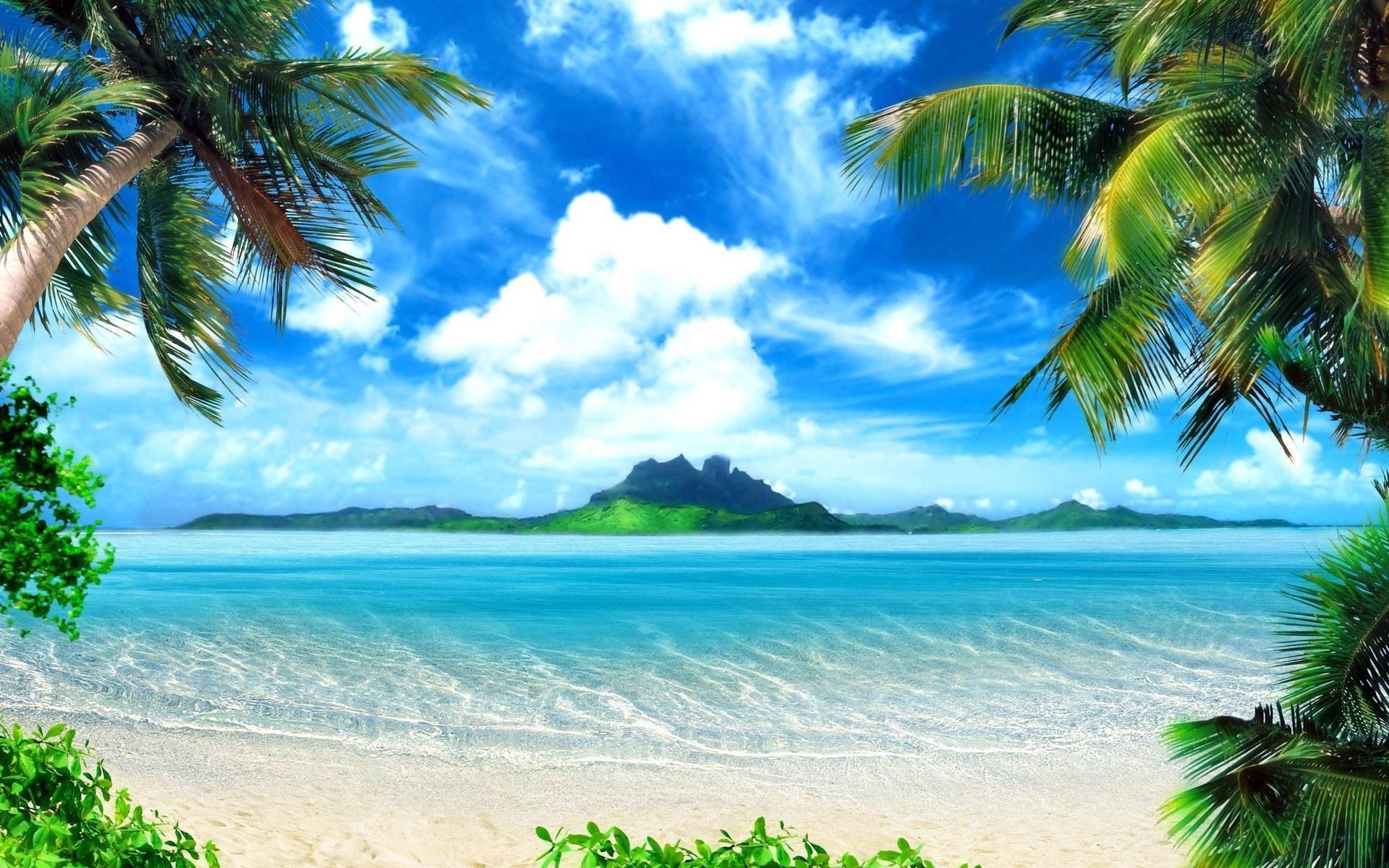 Морские пляжи открытки