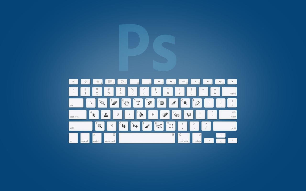 adobe, клавиши, photoshop, ps, клавиатура