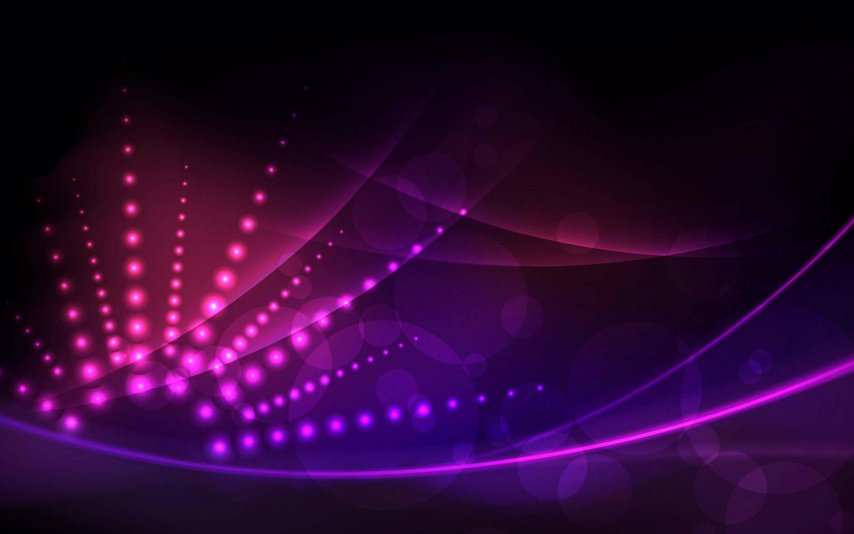 линии, красивая, огни, черный фон, круги, Абстракция