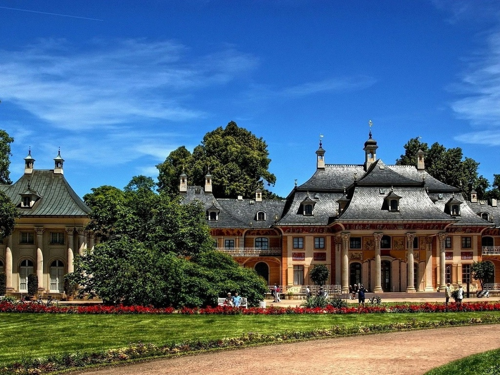 дрезден, германия, castle pillnitz