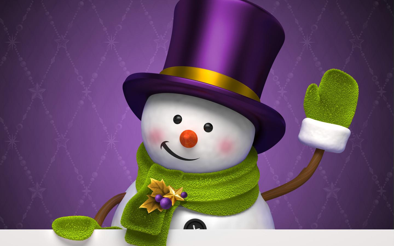 Картинки на новый год с снеговиком