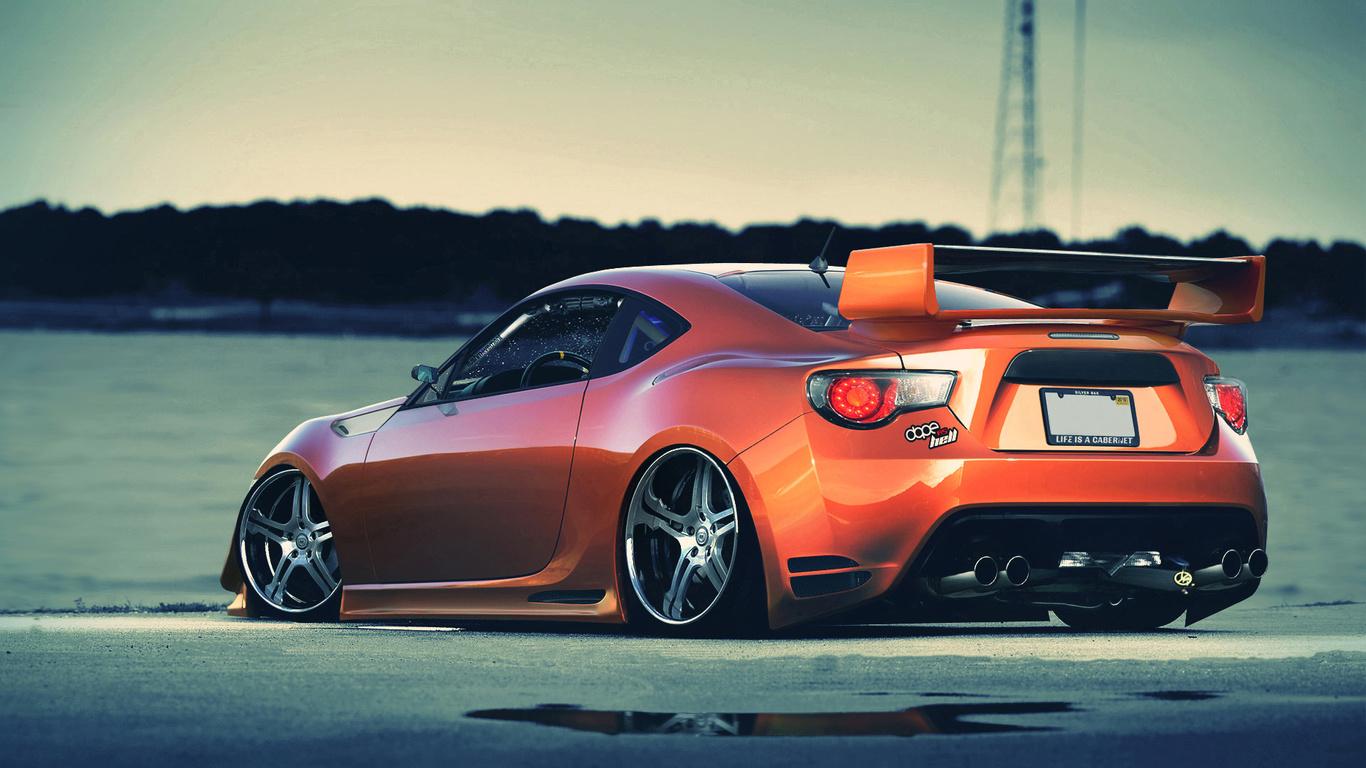оранж, Toyota, gt86, toyota