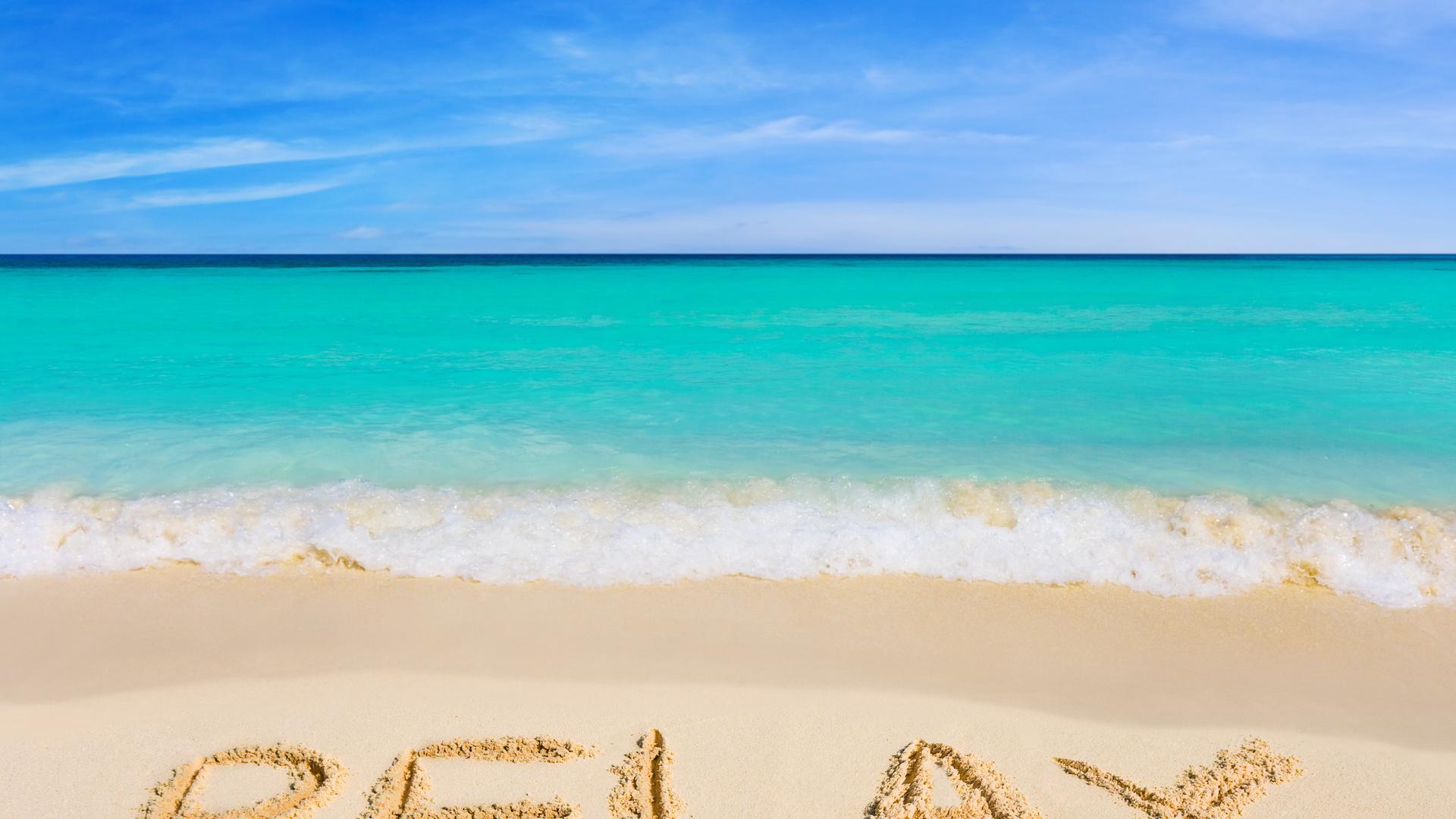 Картинка с надписью отпуск лето