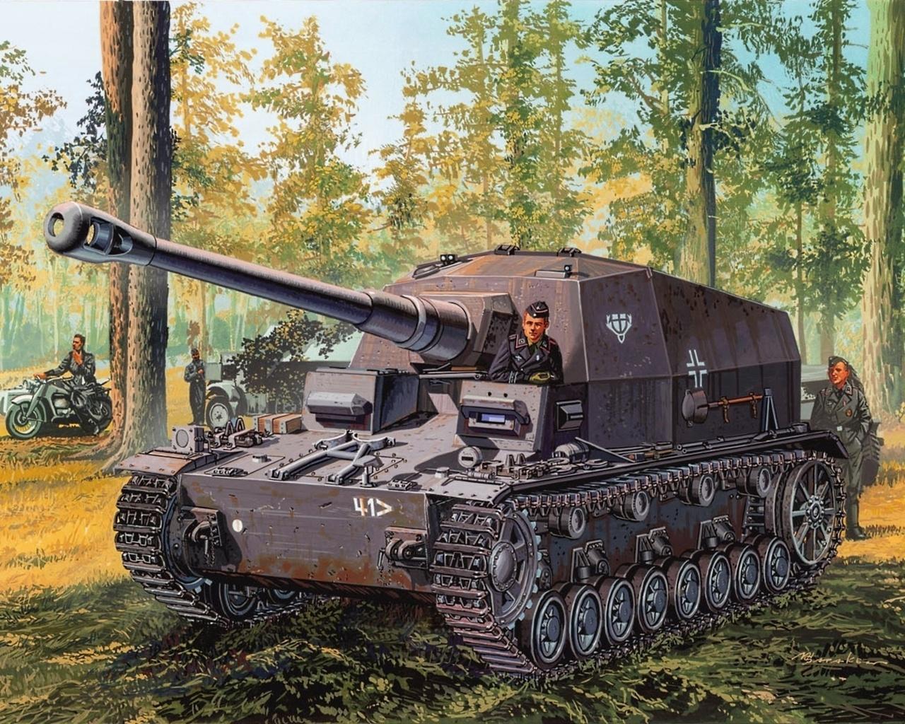 пт сау, истребитель танков, Рисунок, 10.5 cm k gp.sfl., d.max