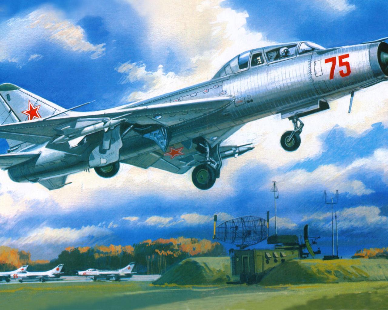 истребитель-перехватчик, Су-9у, maiden, аэродром, взлёт