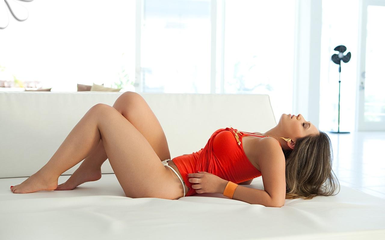 лежит, на кровати, bellada semana, девушка