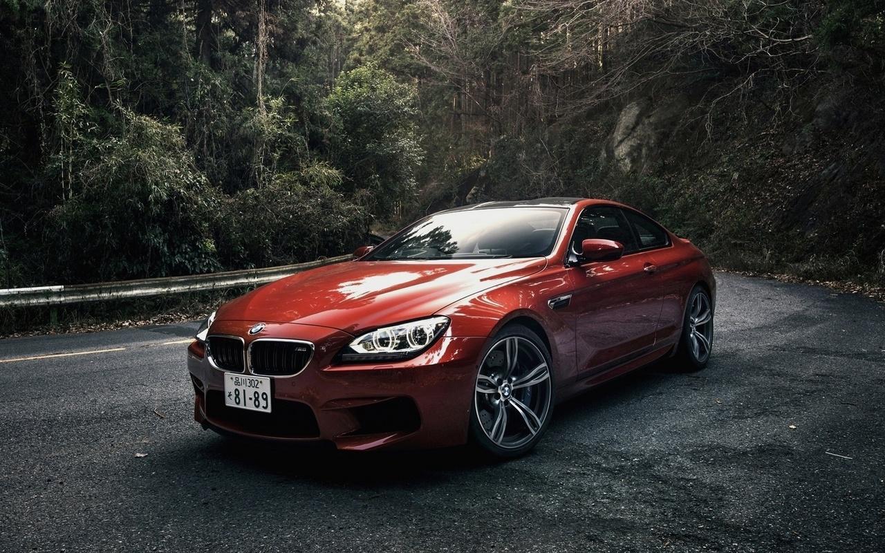 bmw, m6, coupe, japan spec, orange, бмв, м6, купе, оранжевая, машина, лес