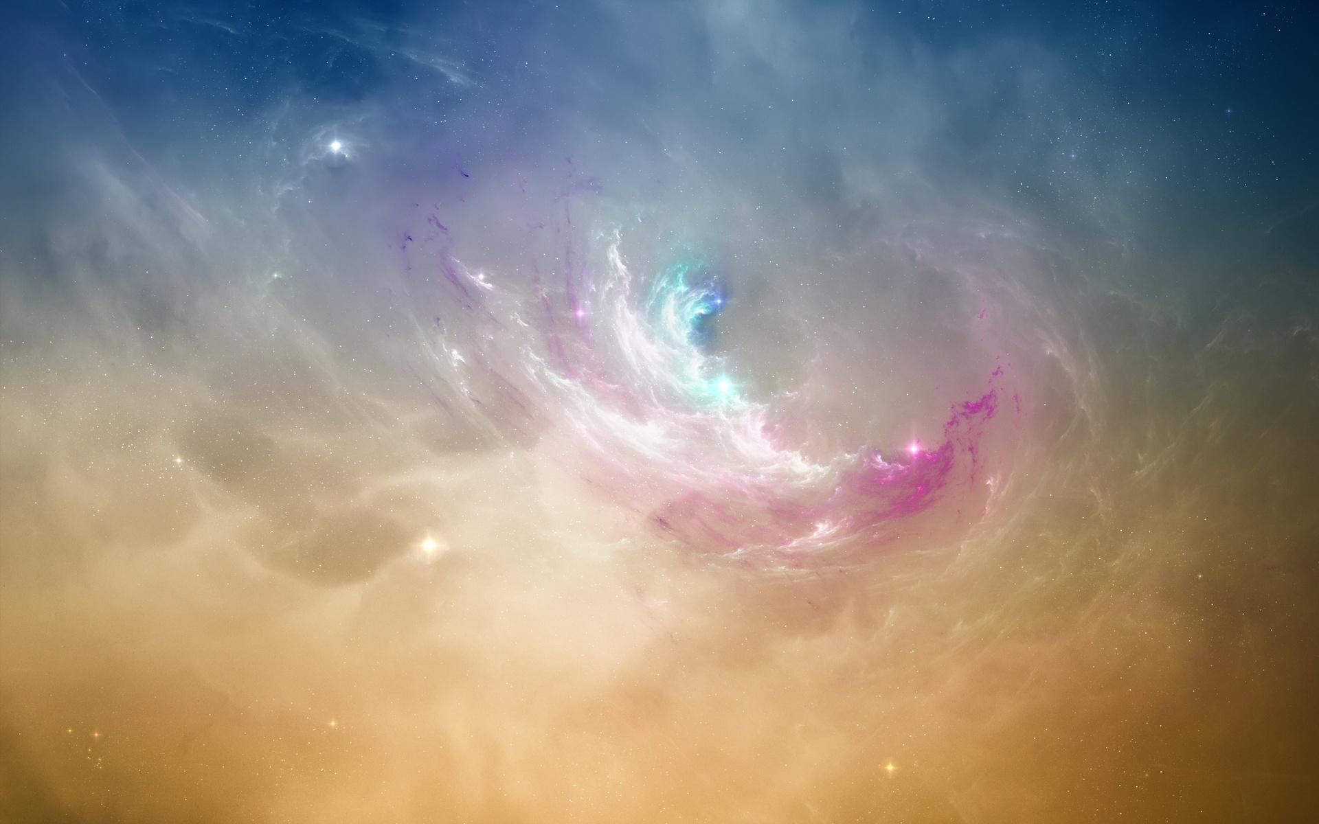 Туманность, звезды, свечение