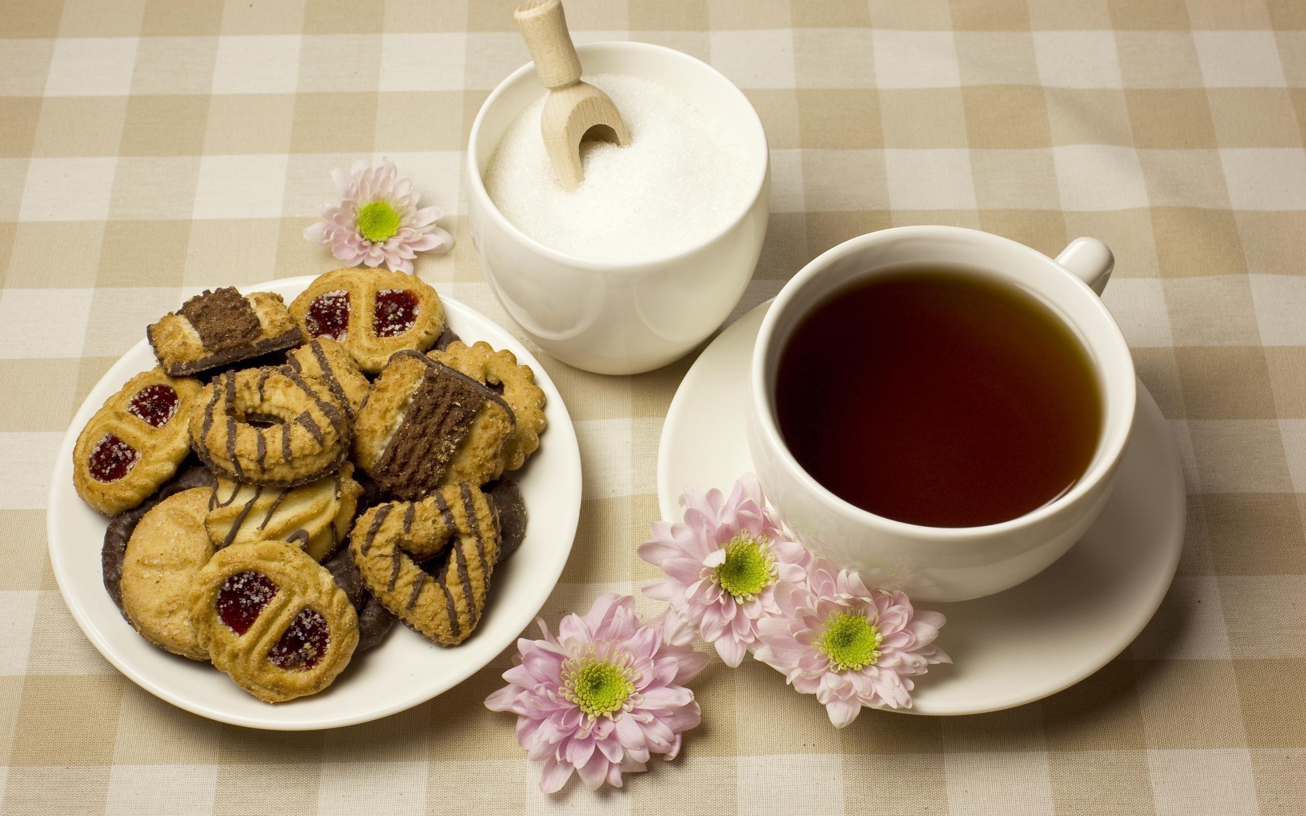 Про работу, чай с печеньками открытки