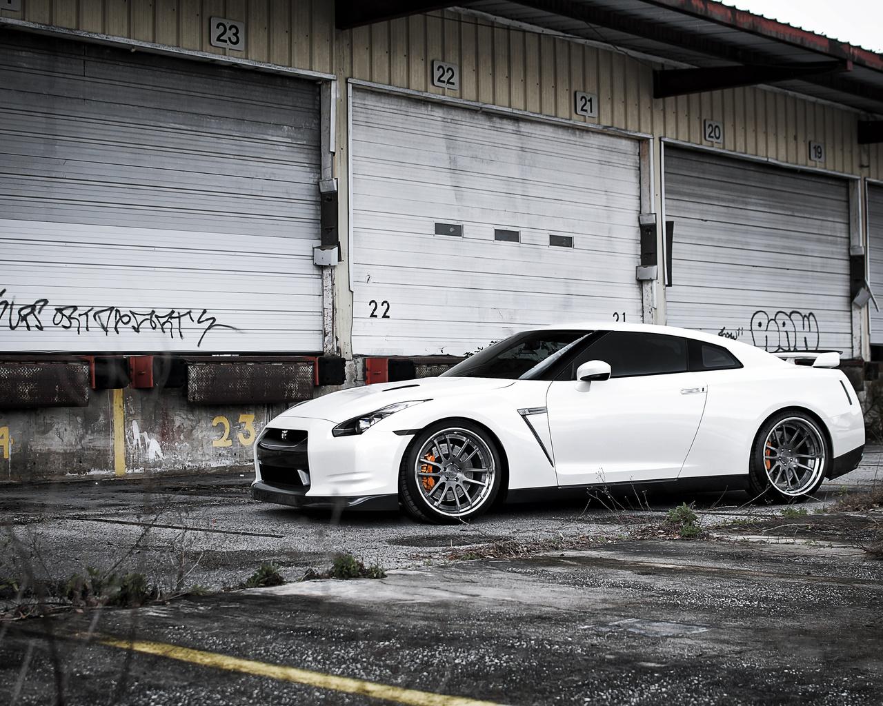 Nissan, ниссан, white, склад, gt-r, белый