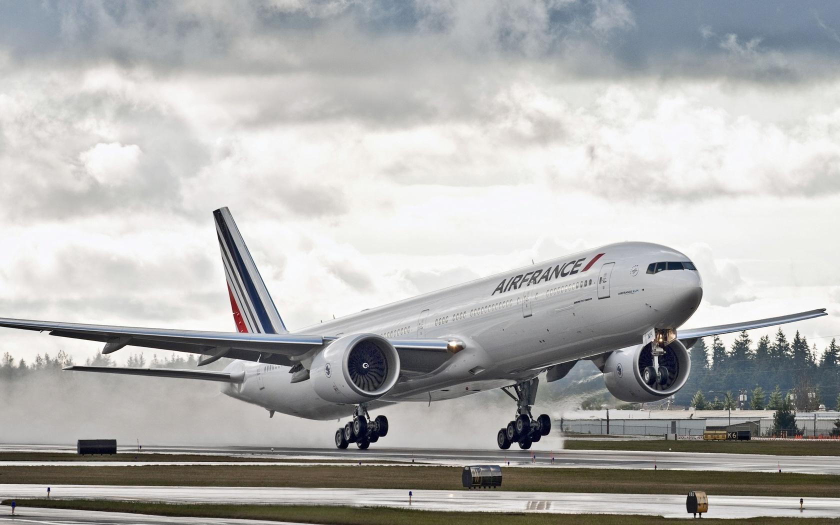 самолёт, боинг, Boeing, 777, air france, облака, boeing 777