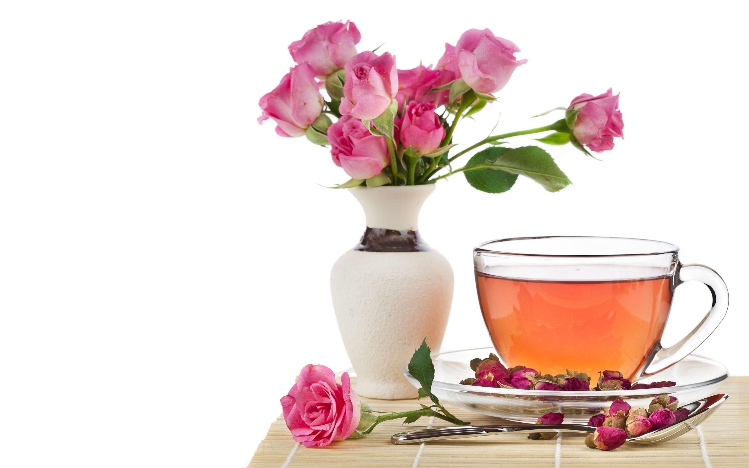 Открытки чай и цветы