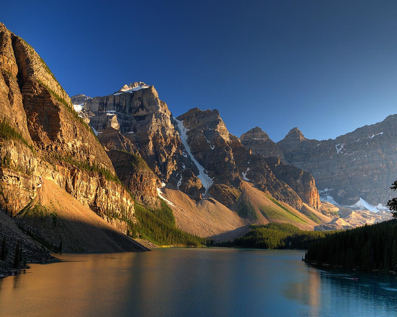 парк, национальный, каньон, река, канада