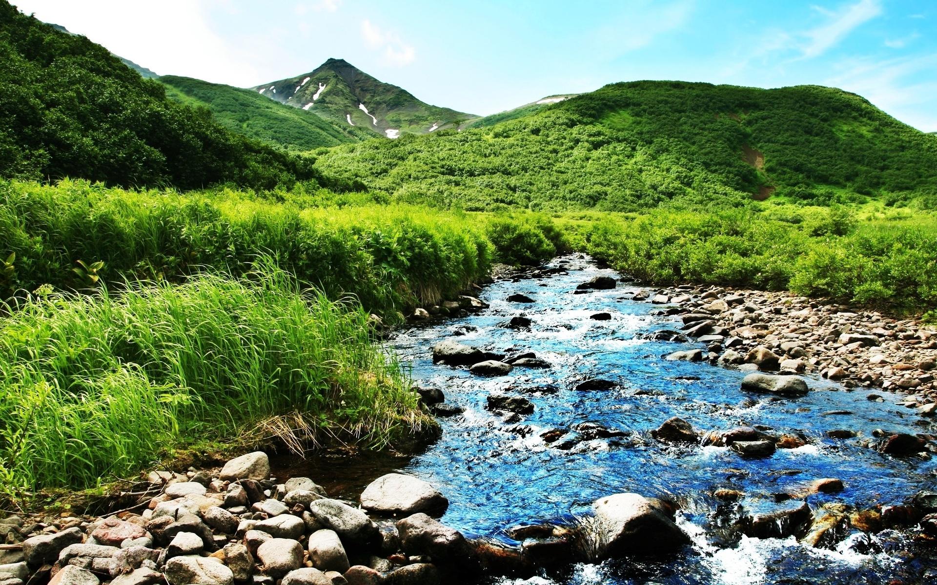 Открыток, картинка чистая река