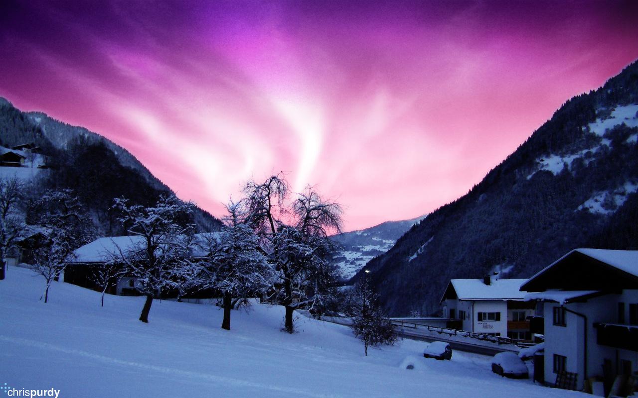 Северное сияние, cool, aurora, northern lights, alaska, ночь