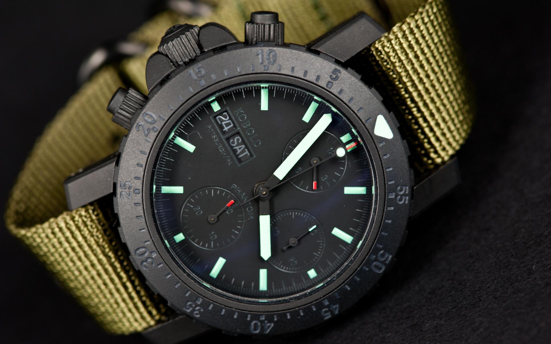 Часы, наручные, kobold phantom, black ops chronograph