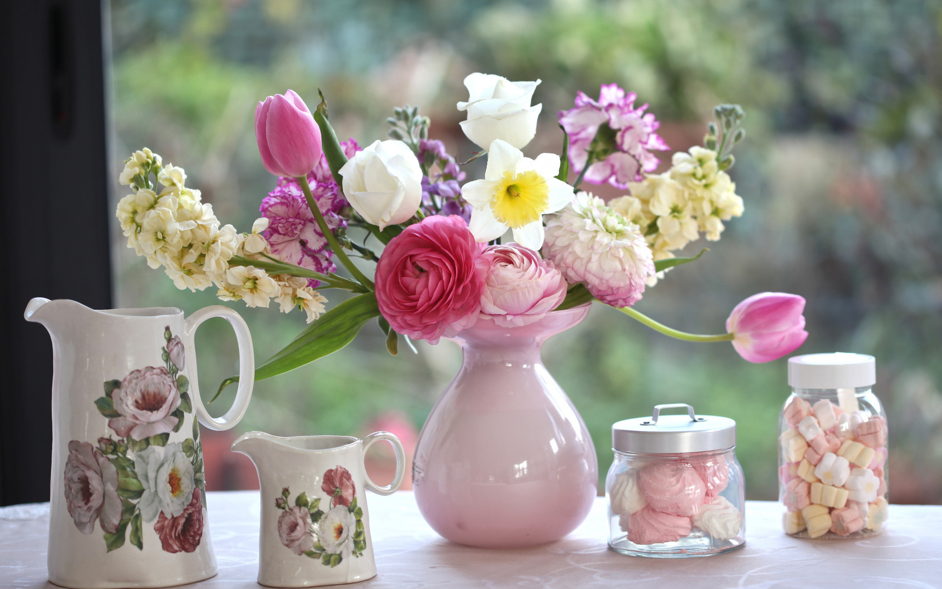 Таиланд пхукет, открытка утренние цветы