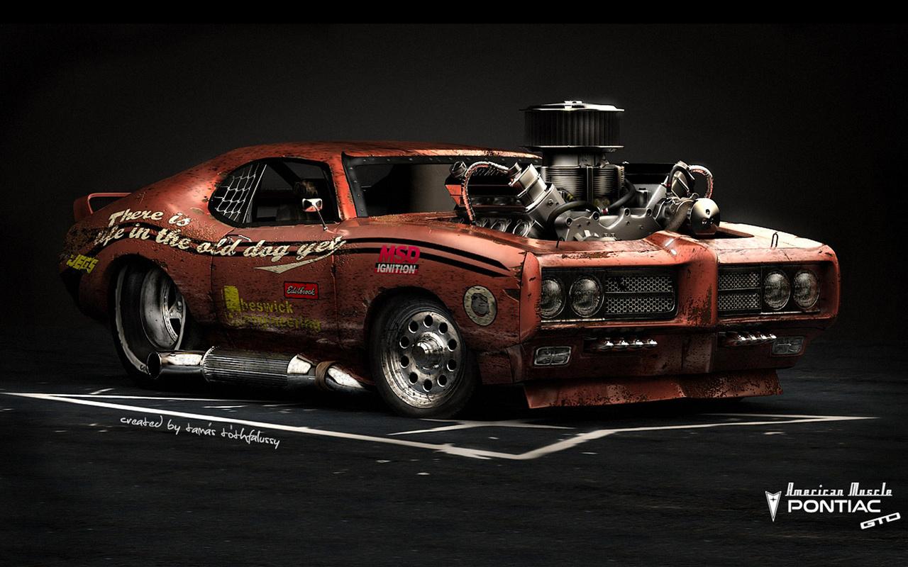 pontiac gto, american muscle, hot rod, car