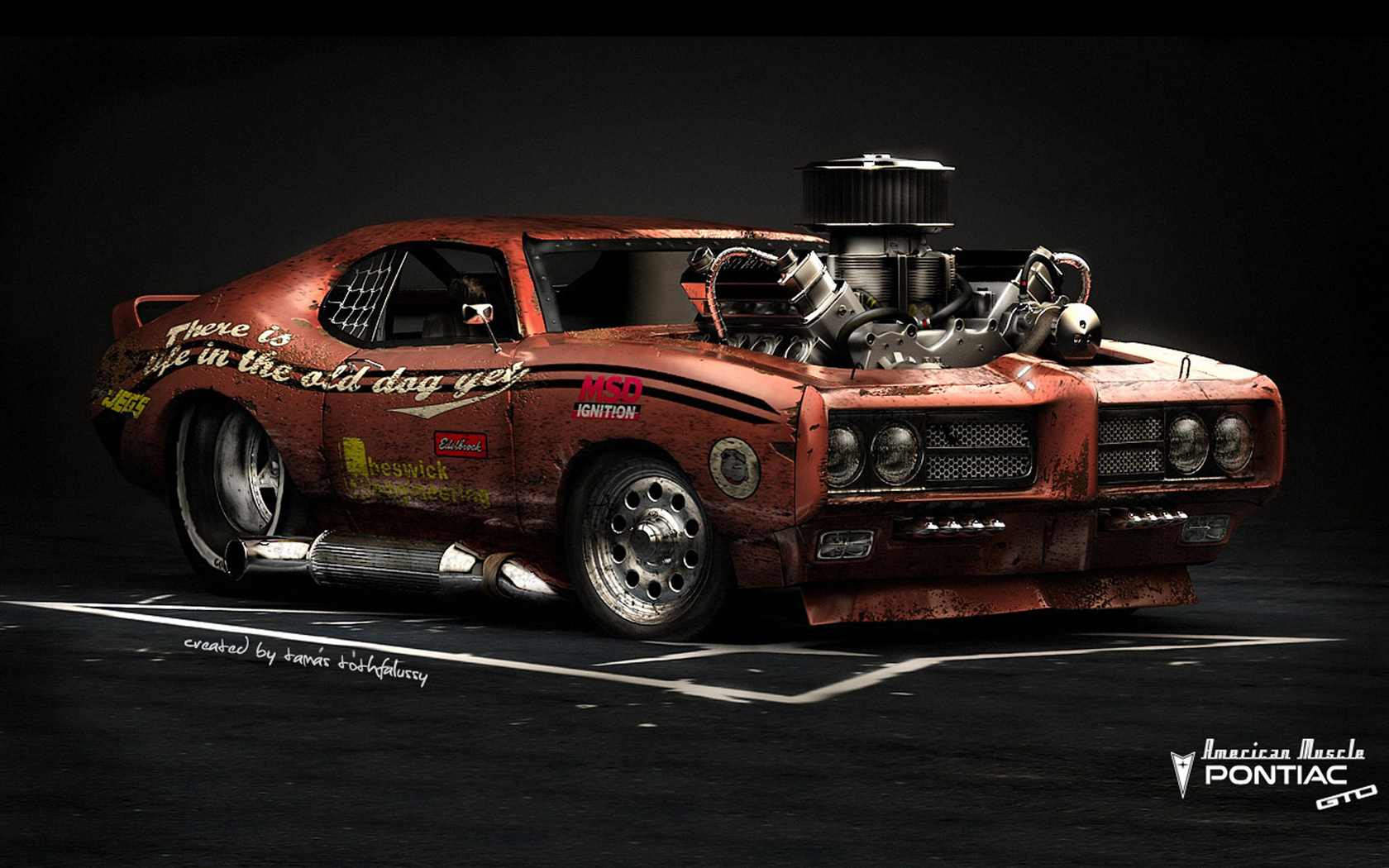 pontiac gto, american muscle, hot rod, car