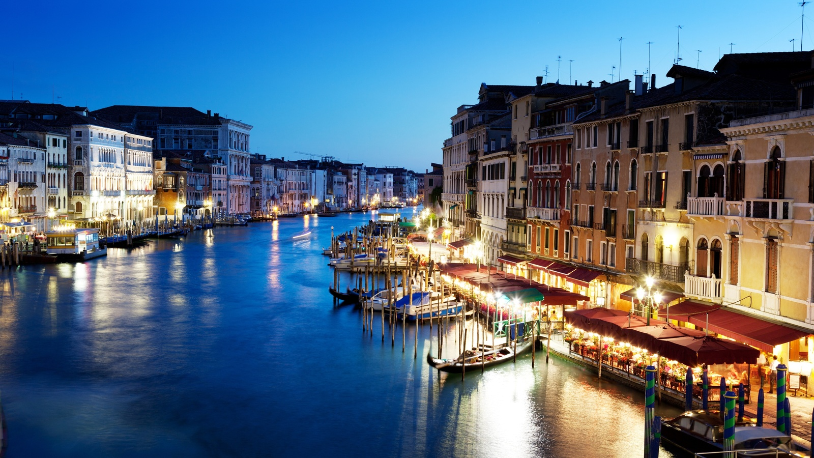 Гранд-канал, canal grande, венеция, venice, italy, вечер, италия