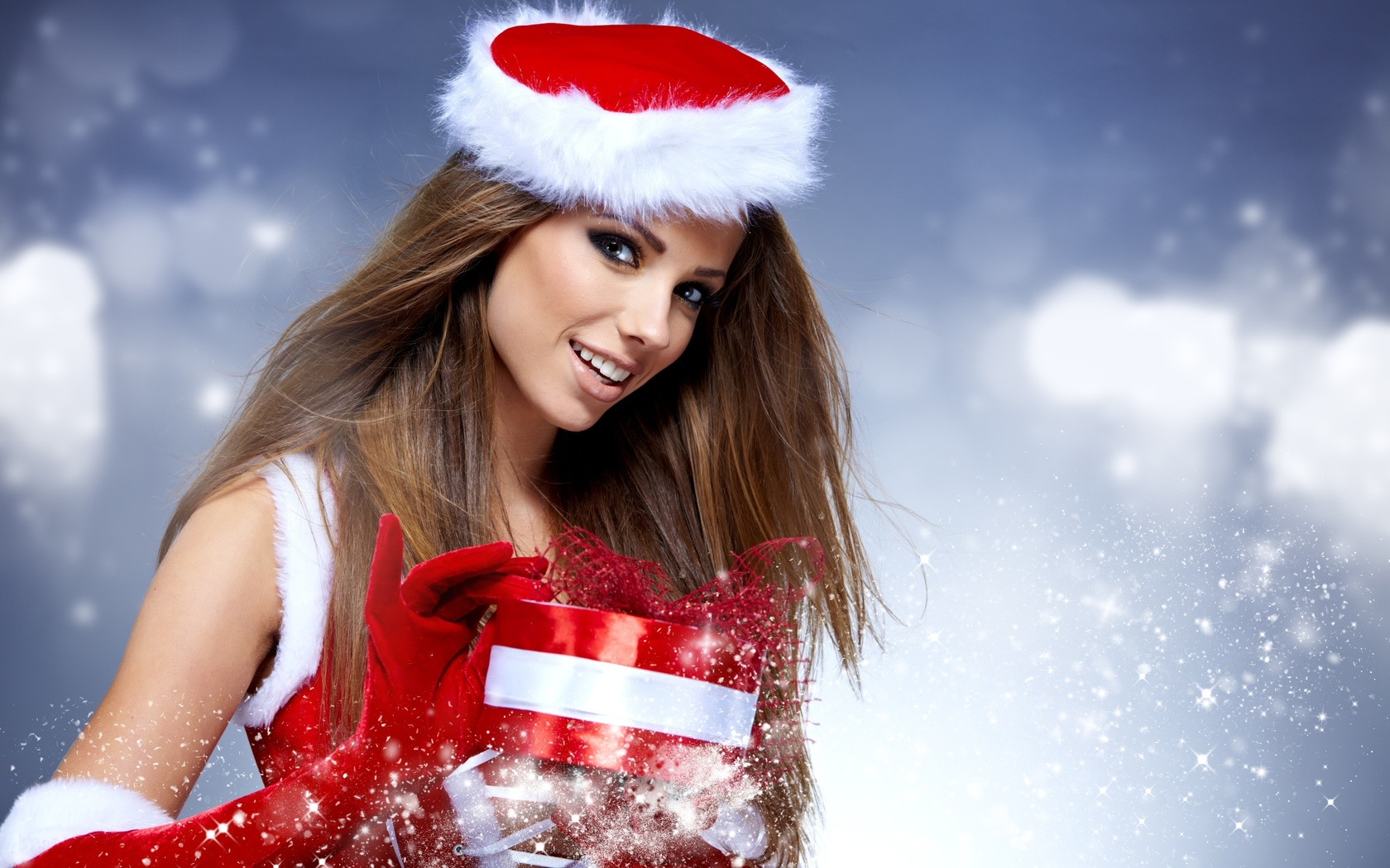 Рождественские картинки с девушками