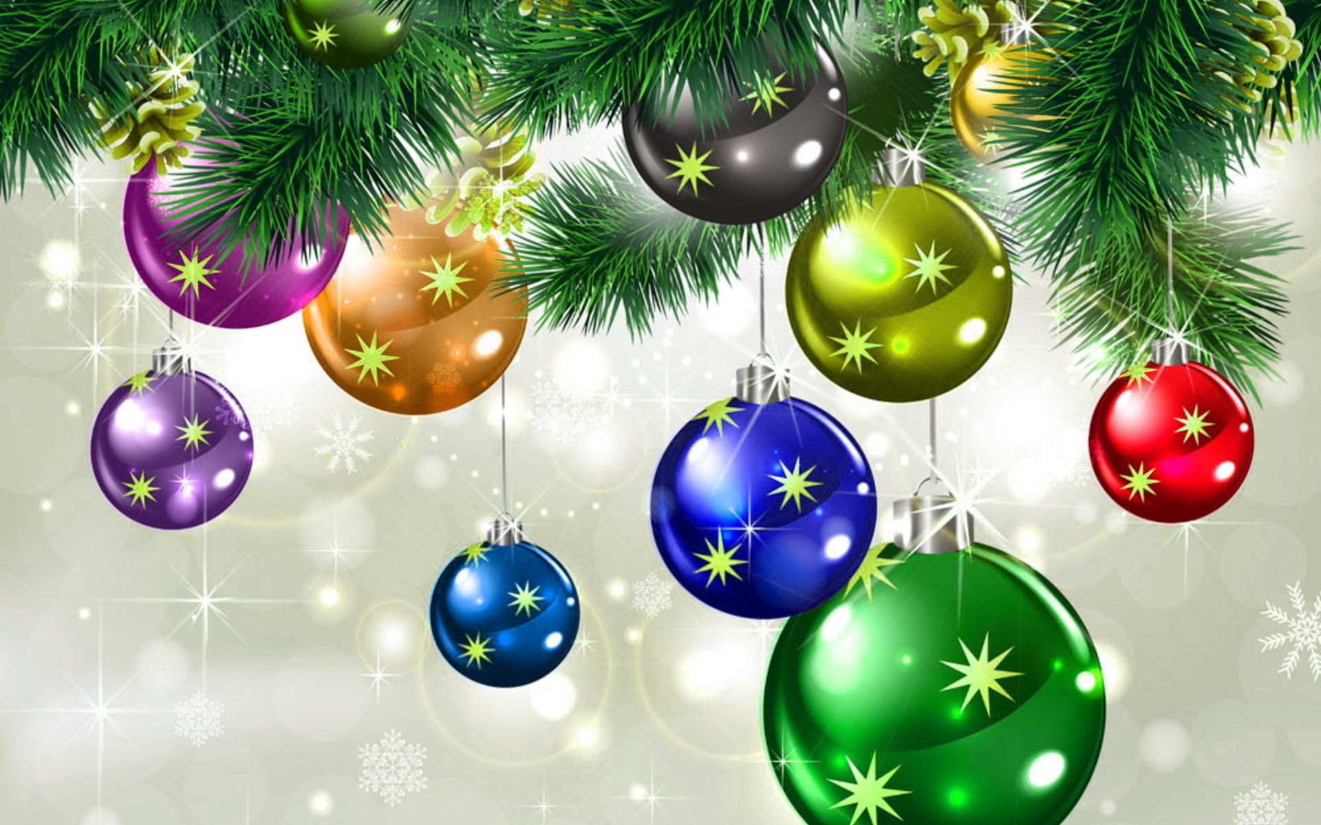Картинки с шарами новогодними