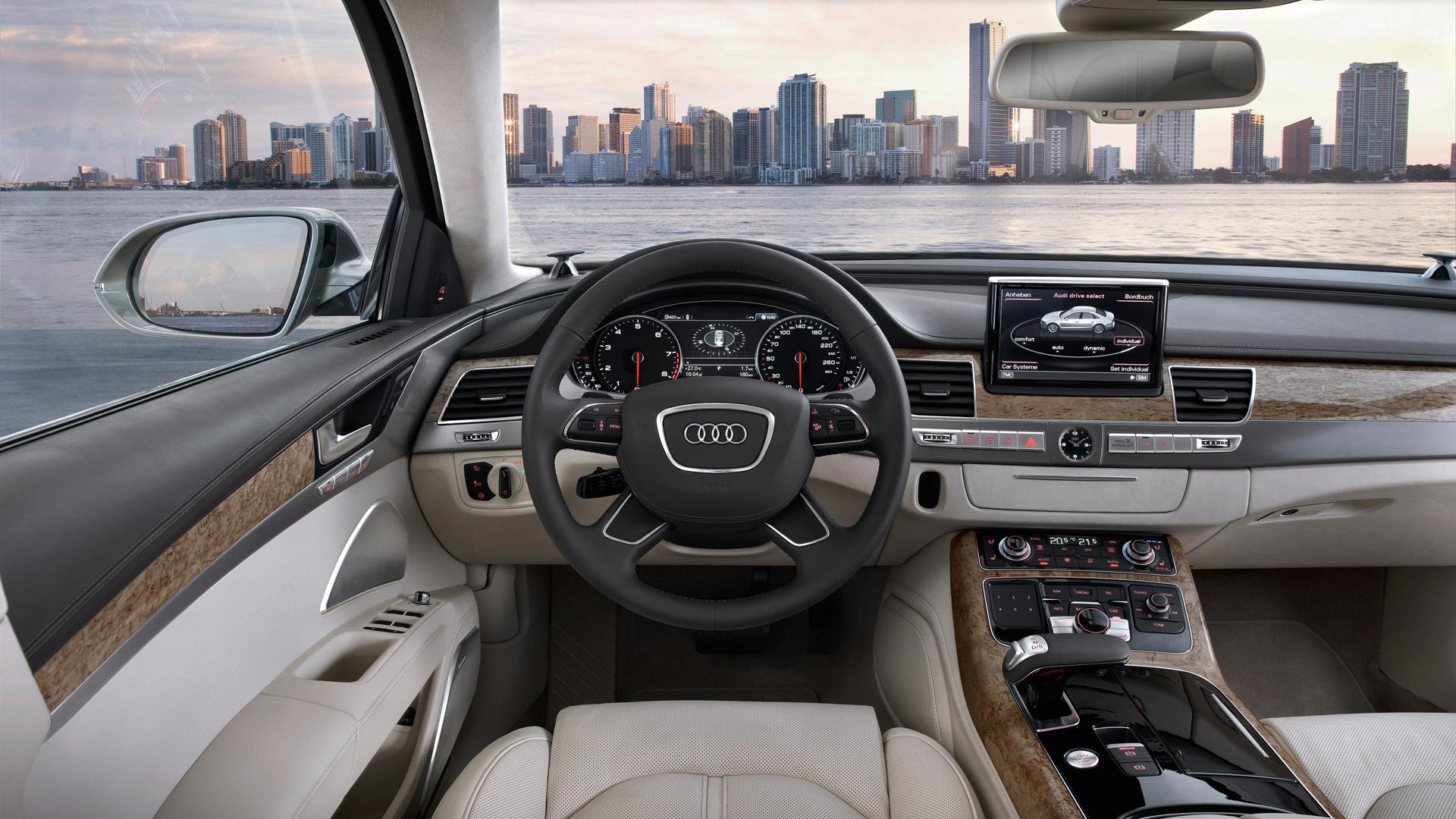 салон, ауди, город, Audi a8