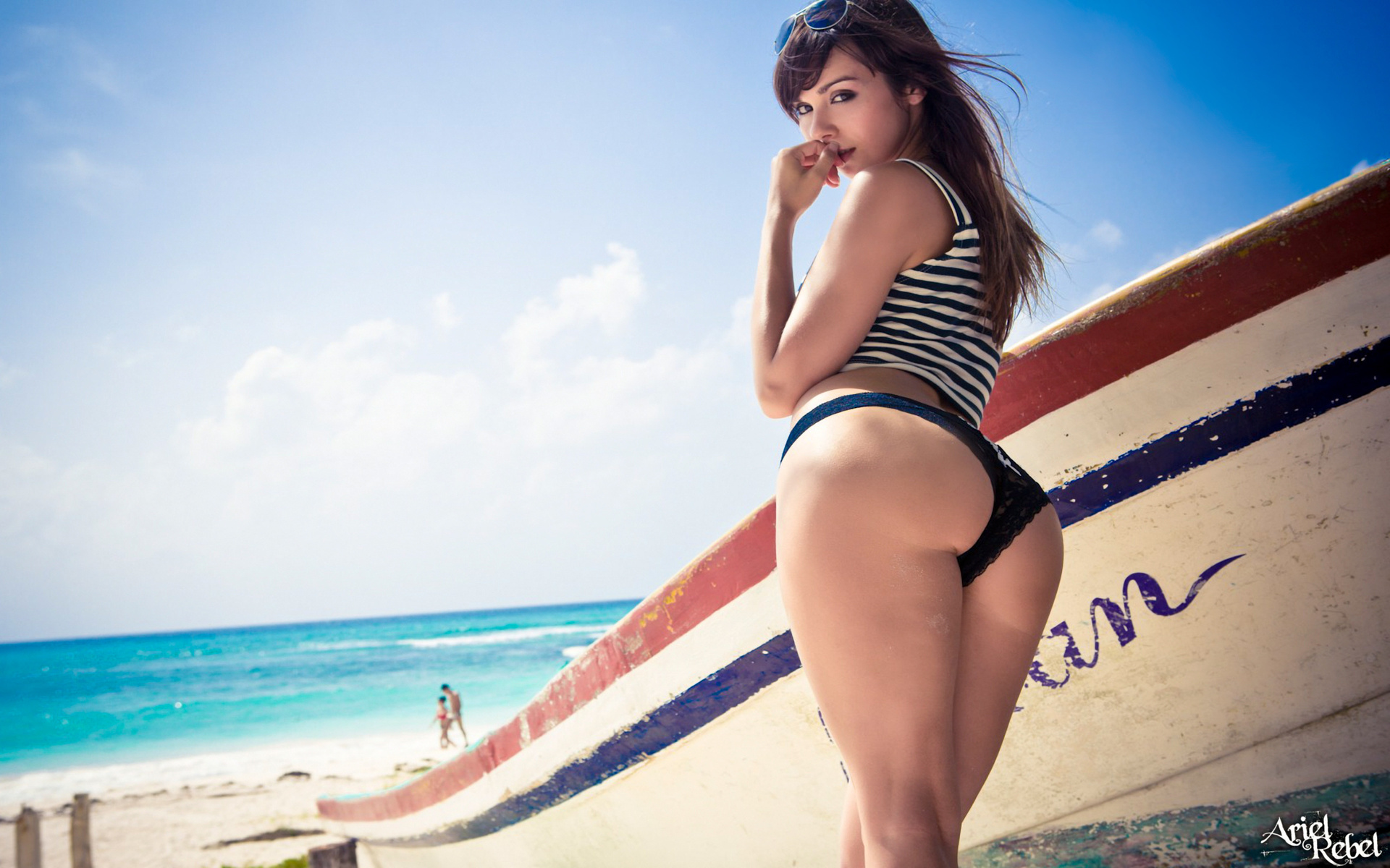 beach, water, perfect, beautiful, ass, boat, panties, Ariel rebel
