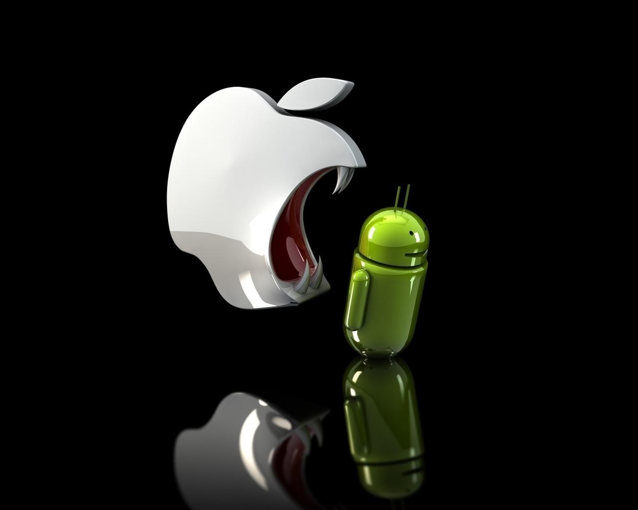 Картинка айфон ест андроид