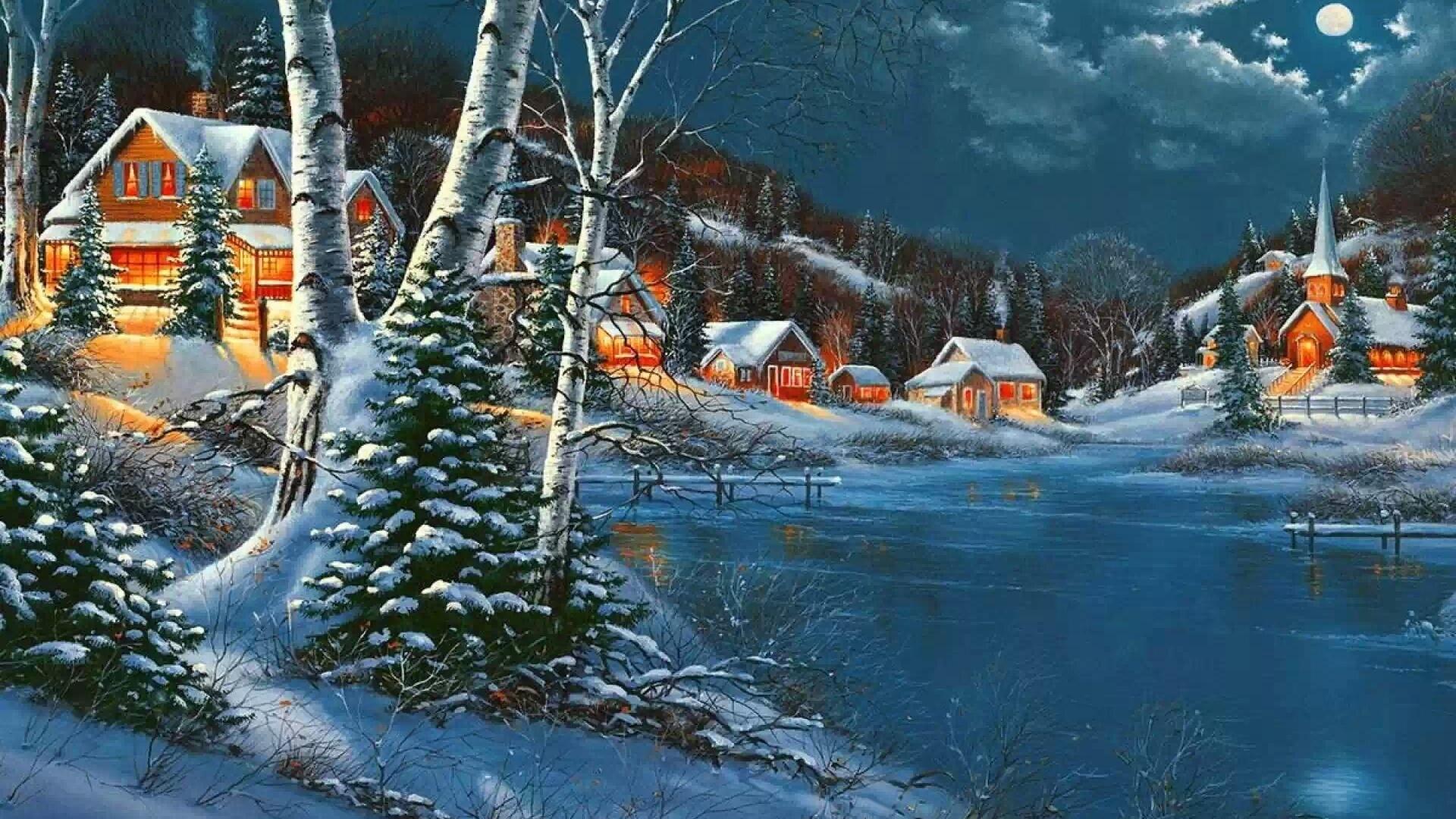 должна найти красивые зимние новогодние пейзажи фото и картинки всех поклонников его