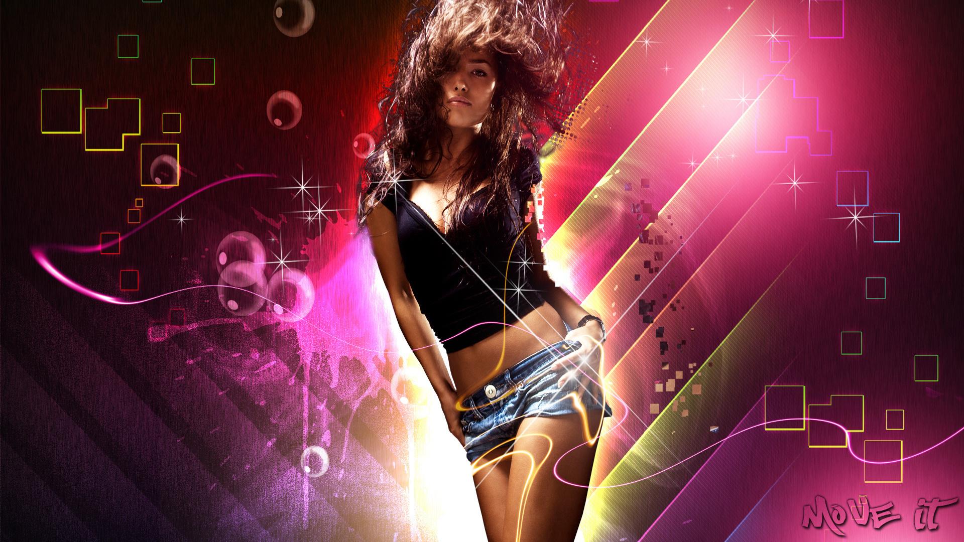 model, lights, short, девушка
