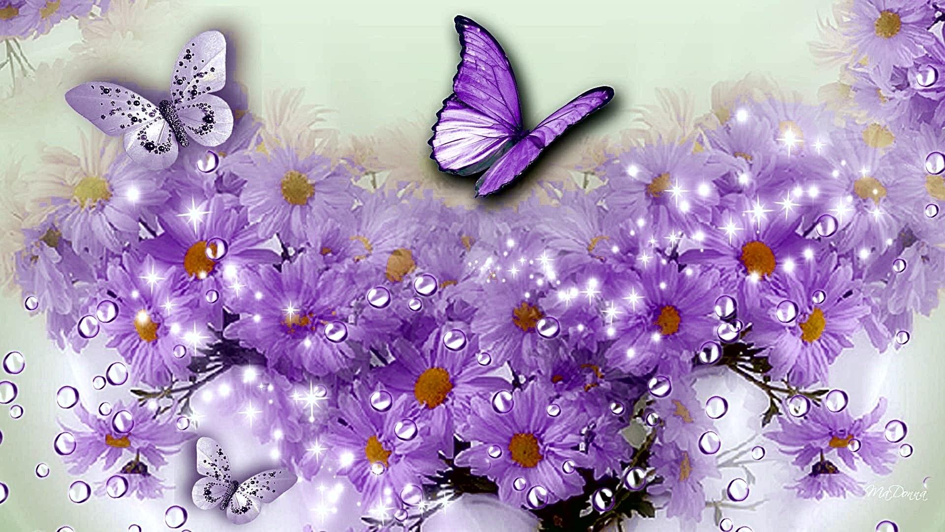 Статусы смыслом, цветы и бабочки открытки