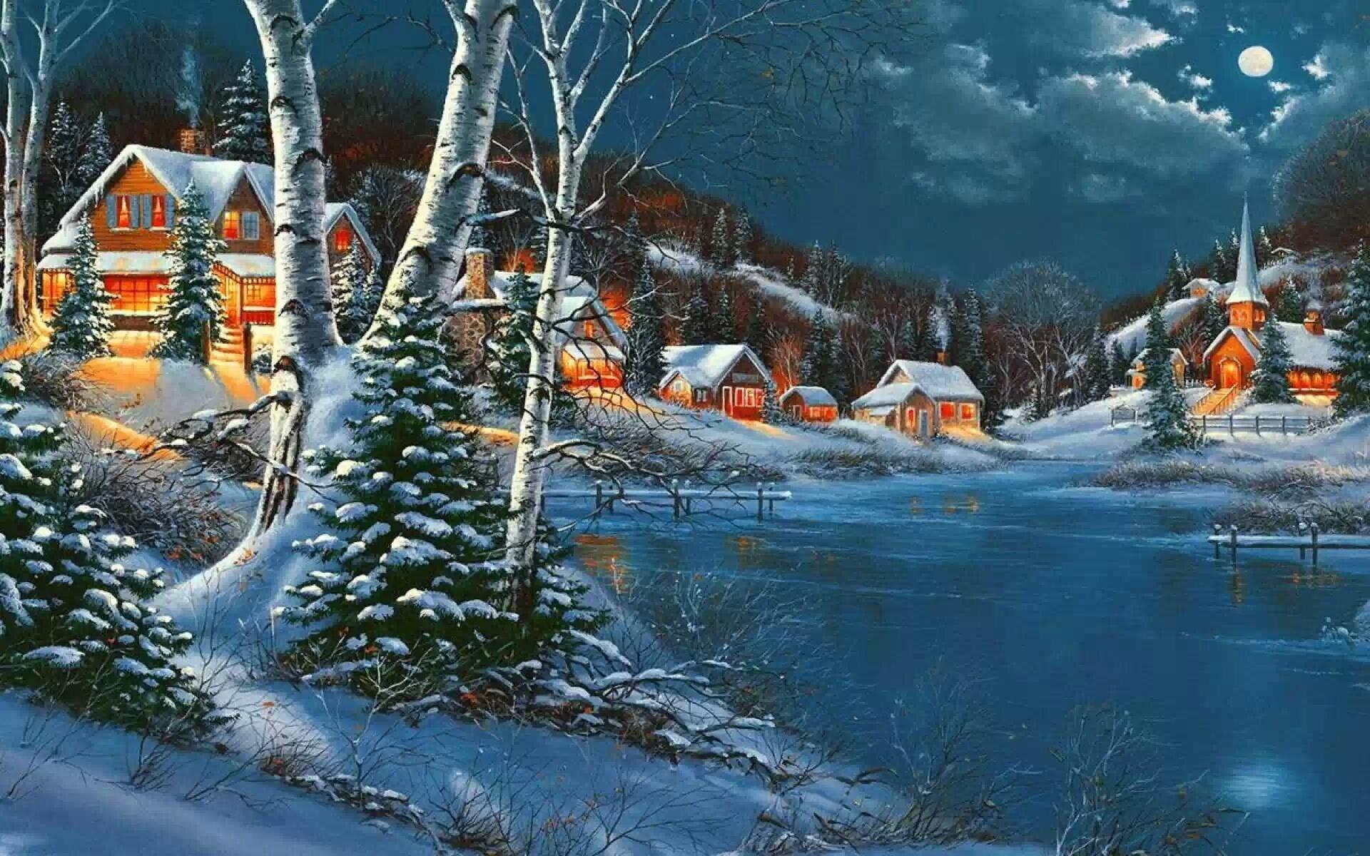 Зимние картинки с новым годом красивые, контакте