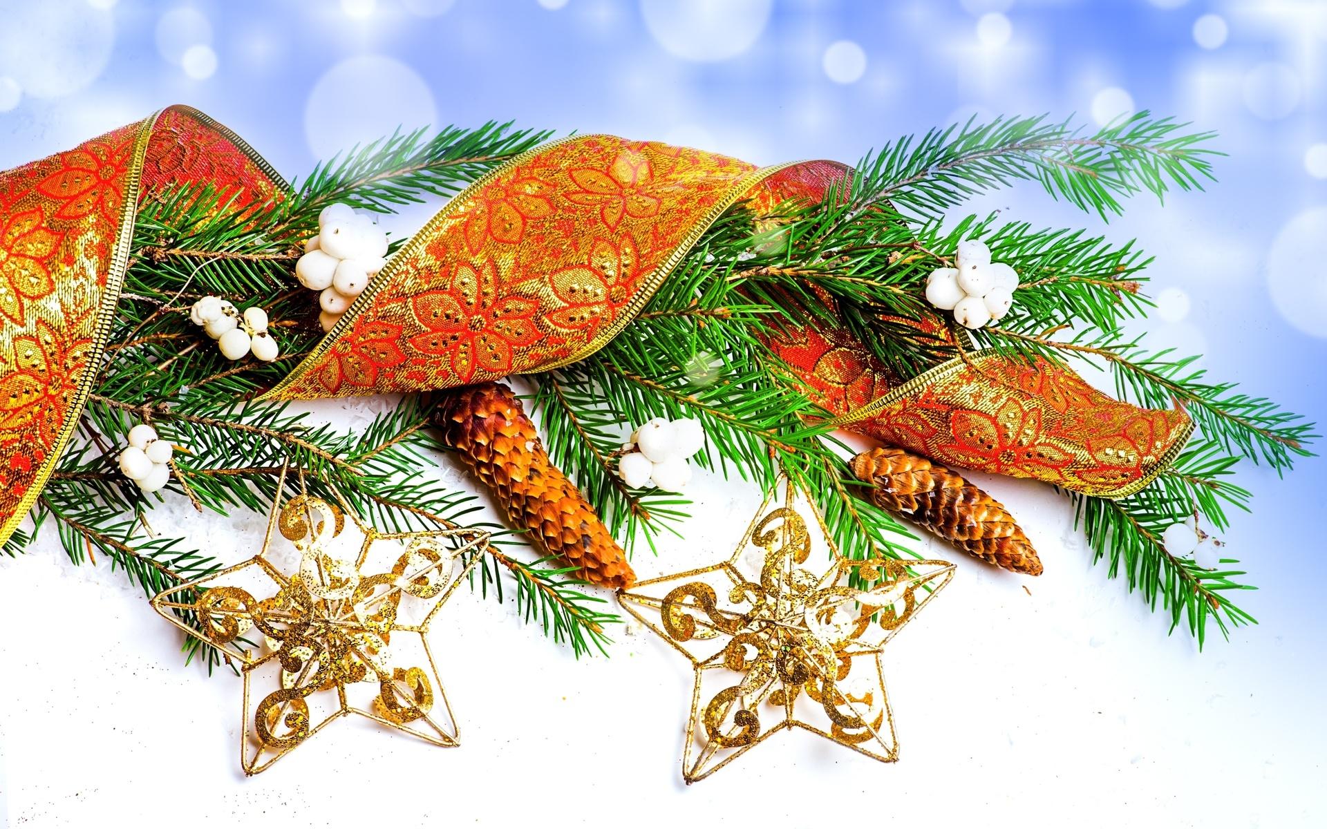 Новогодние открытки шишки