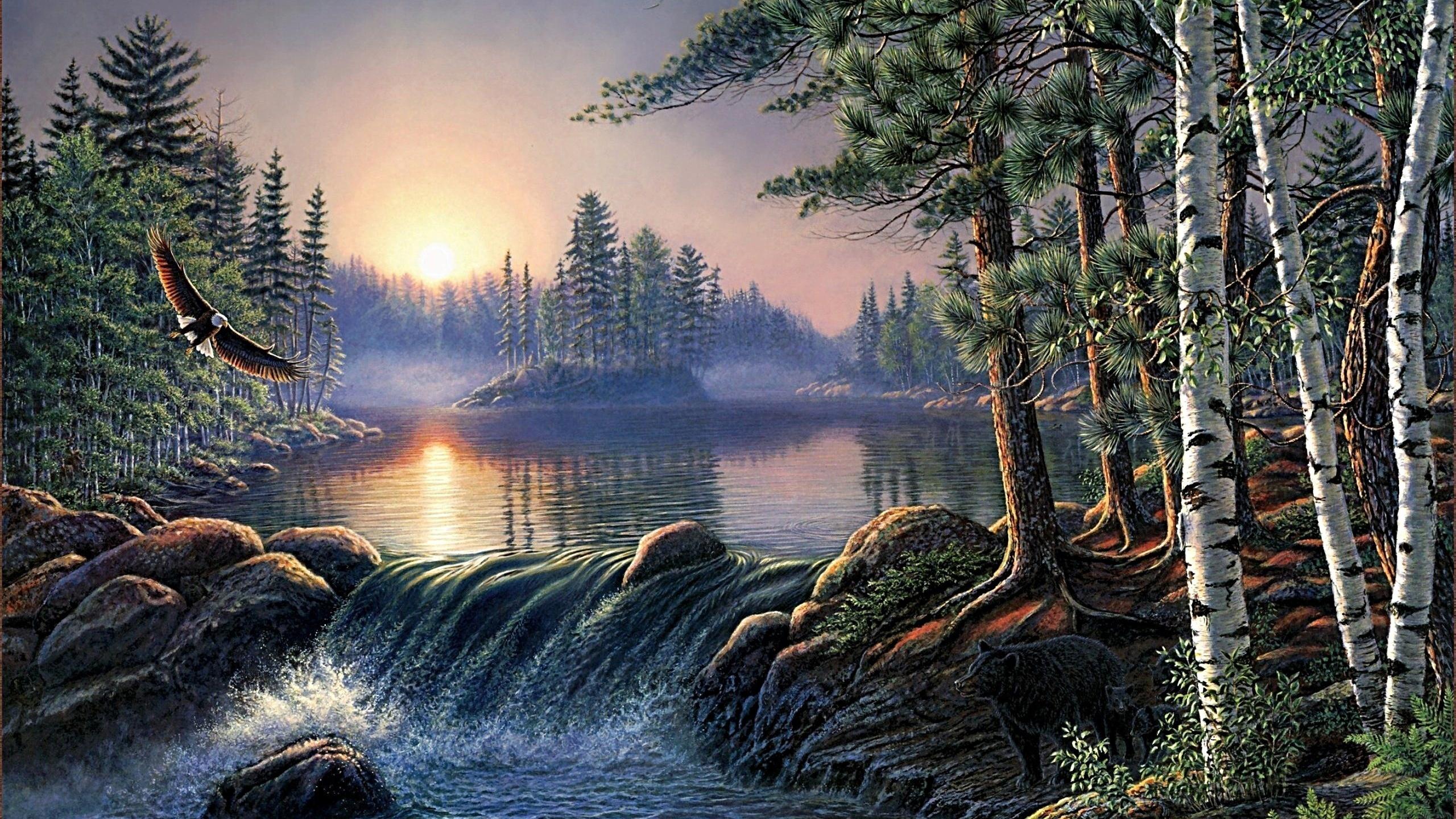 Пейзаж в открытках, надписью про любовь