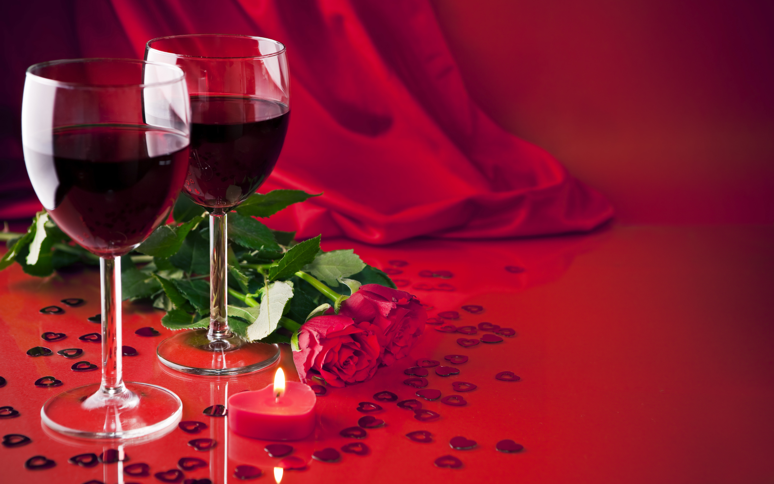 Открытки с цветами и вино