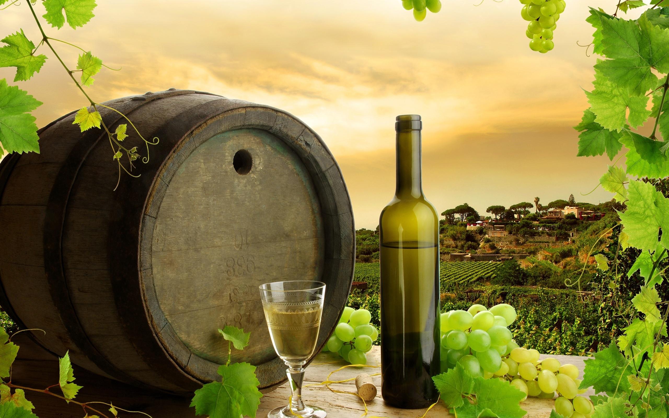 Картинки с виноградом и вином