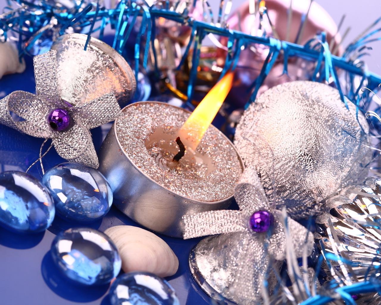 шары, шарики, зеленые, узор, свечи, колокольчики, ноты, ветка, ель, ёлка, праздники, зима, new year, christmas, рождество, новый год