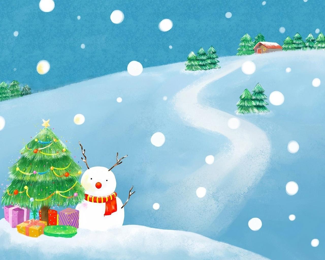 Снежки открытки, для