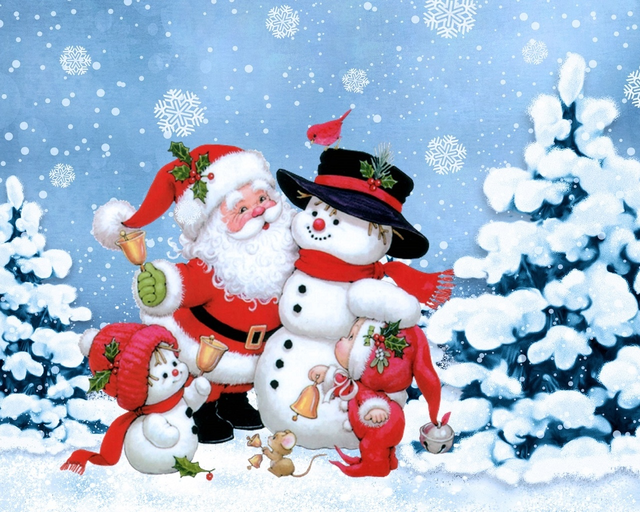 Тенью девушек, картинки с новогодней темой снеговик дед мороз елка