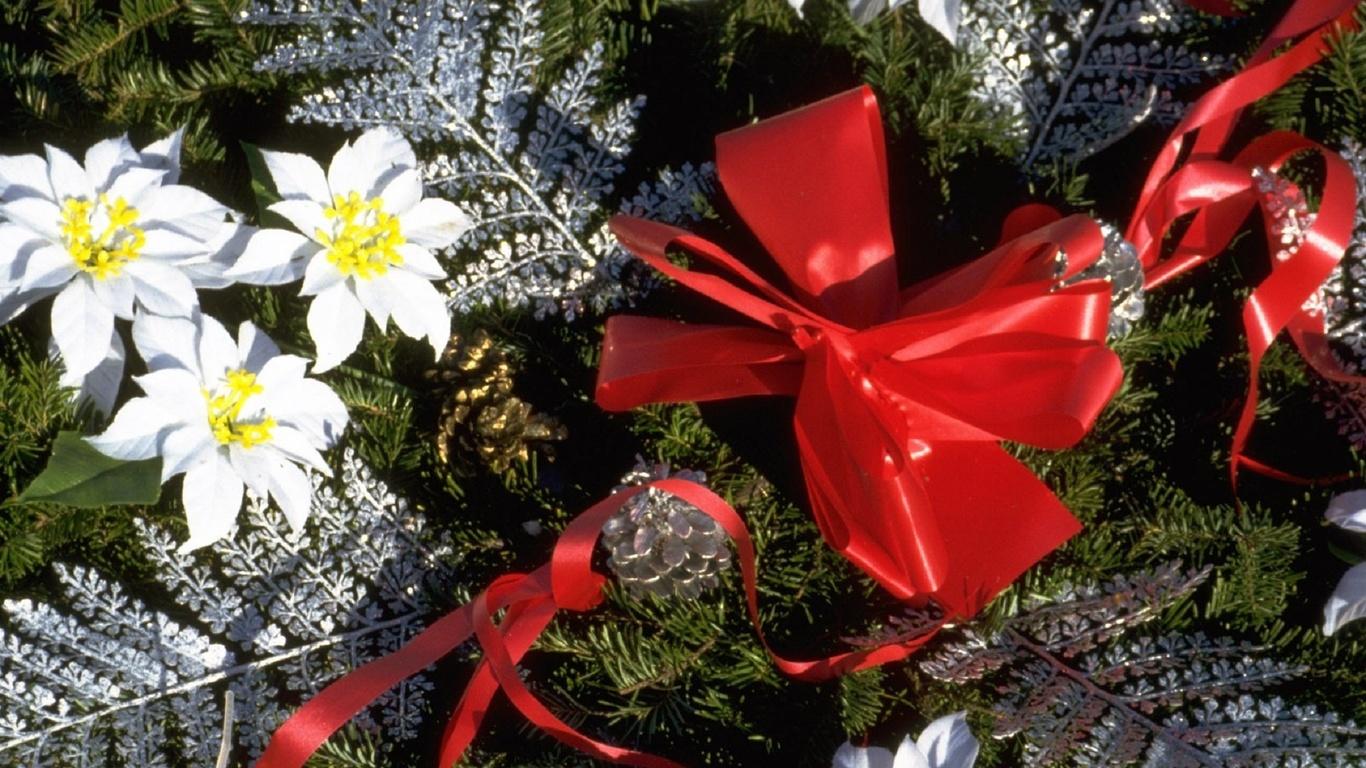 Цветок для новогодней открытки
